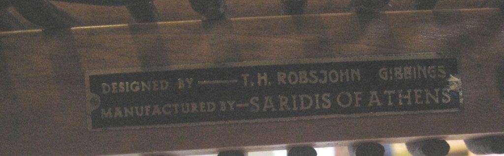 Mid-20th Century Early Robsjohn-Gibbings Klismos Chair for Saridis For Sale