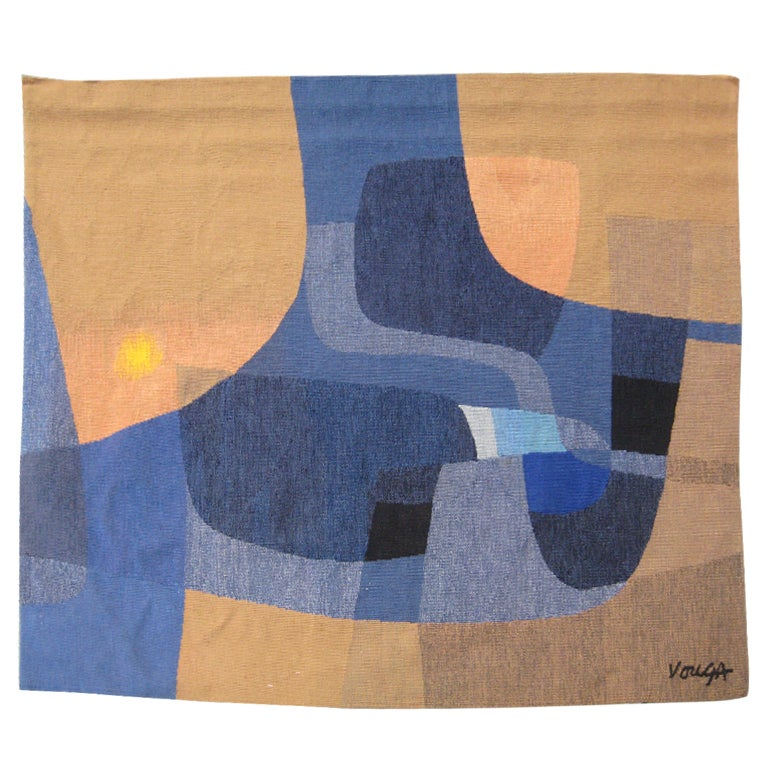 Michel Vouga Wool Tapestry for Raymond Picaud For Sale