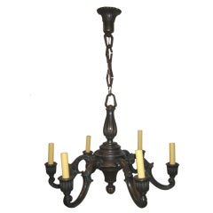 Just Andersen Danish Bronze Chandelier