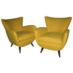 Pair of Ernst Schwadron Club Chairs