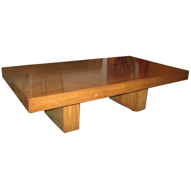 Early Dunbar Mahogany Coffee Table For Sale