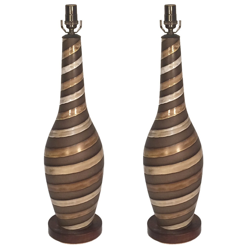 Pair of Large Ingrid Atterberg Table Lamps for Upsala Ekeby