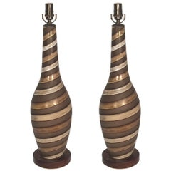 Pair of Large Ingrid Atterberg Table Lamps for Upsala Ekeby