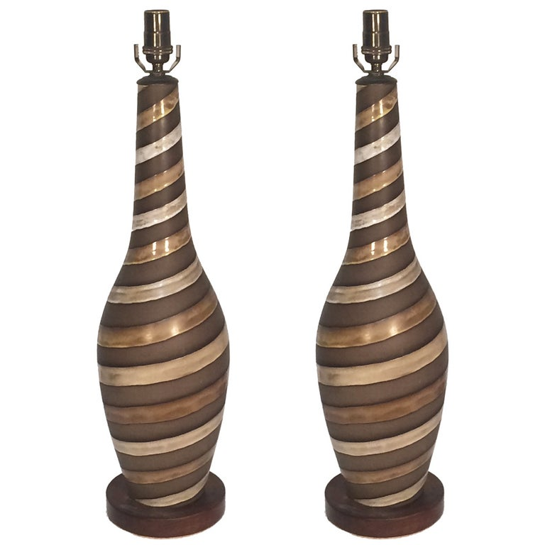Pair of Large Ingrid Atterberg Table Lamps for Upsala Ekeby For Sale