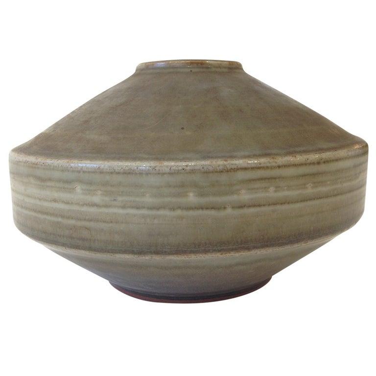 Carl Harry Stalhane Studio Pottery Vase For Sale