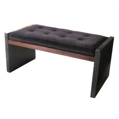 Rosewood and Bronze Bench by Roger Sprunger for Dunbar