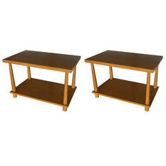 Pair of Walnut End Tables by T.H. Robsjohn-Gibbings