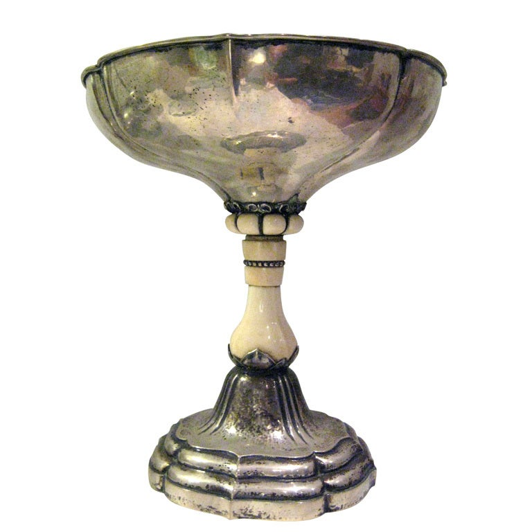 Large Just Andersen Sterling Centerpiece