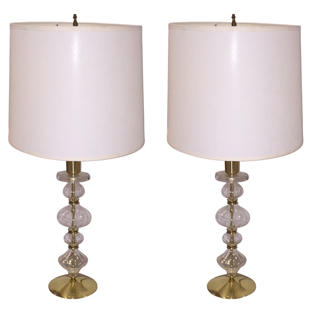 Pair of Erik Hoglund Lamps for Nova Boda