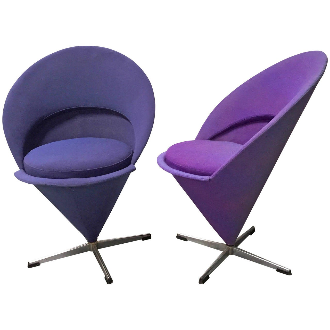 pair of verner panton cone chairs at 1stdibs. Black Bedroom Furniture Sets. Home Design Ideas