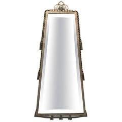 Rare Paul Kiss Wrought Iron Mirror Signed