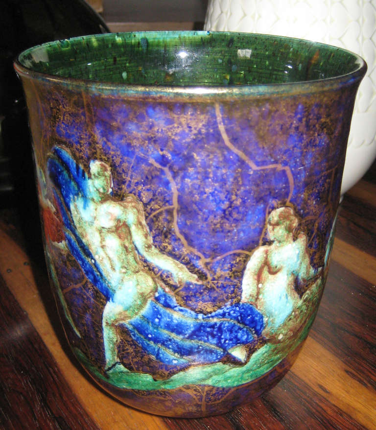 French Jean Mayodon Vase For Sale