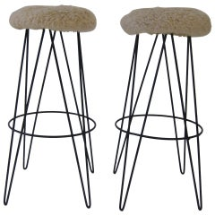 Pair of Frederick Weinberg Bar Stools