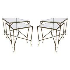 Pair of Maison Bagues Bronze Nesting End Tables