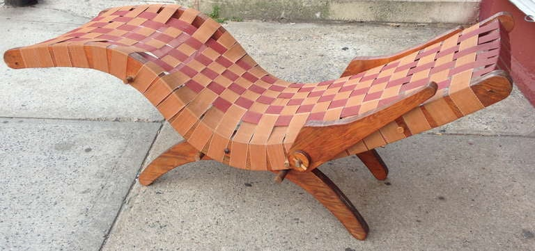 American Organic Modern Chaise by Klaus Grabe 'Attributed' For Sale