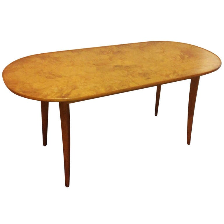 Carl Malmsten Coffee Table, Signed