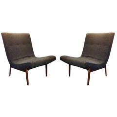 Pair of Milo Baughman Scoop Chairs