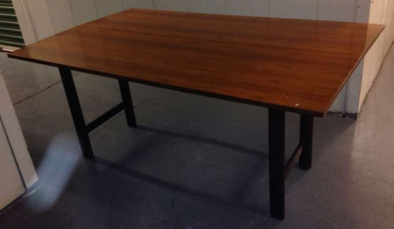 Mid-Century Modern Harvey Probber Flip-Top Console or Dining Table For Sale