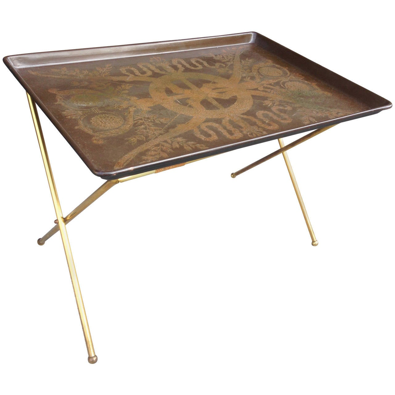 fornasetti tray table for sale at 1stdibs. Black Bedroom Furniture Sets. Home Design Ideas