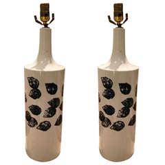 Pair of Ceramic Table Lamps by Gunvor Olin-Gronqvist
