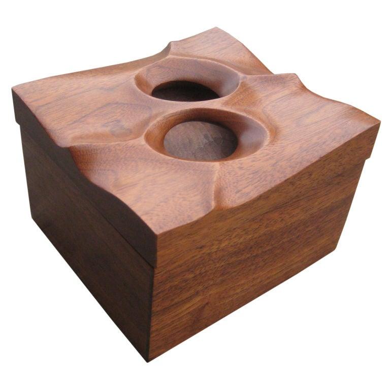 Studio black walnut box by james martin at 1stdibs for Black box container studios