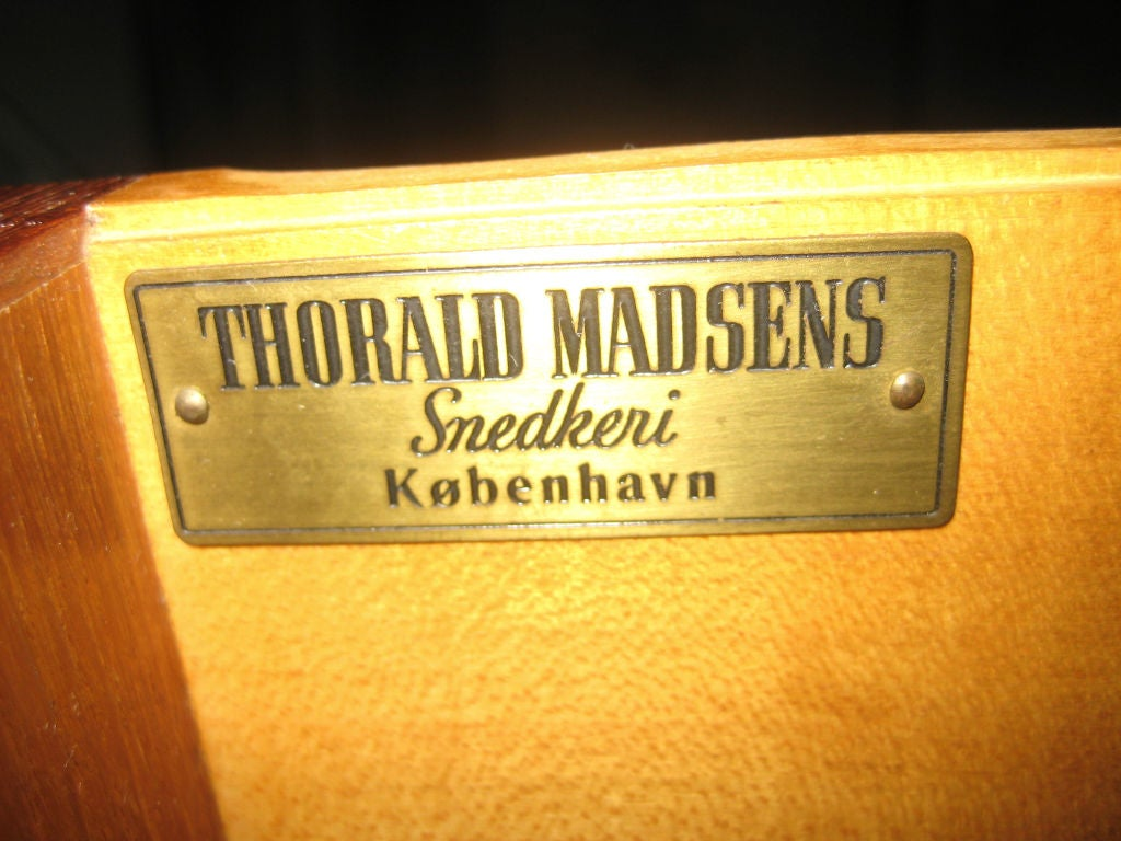 Danish Chest and Mirror by Peter Hvidt for Thorald Madsen For Sale