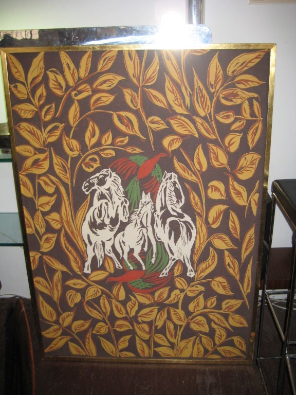 French Amazing Raoul Dufy Aubusson Tapestry--Signed For Sale