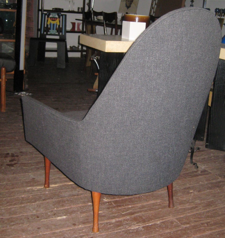 Paul McCobb Highback Lounge Chair for Widdicomb In Good Condition For Sale In Hudson, NY