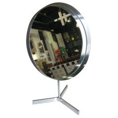 Steel and Glass Vanity Mirror By Robert Welsh