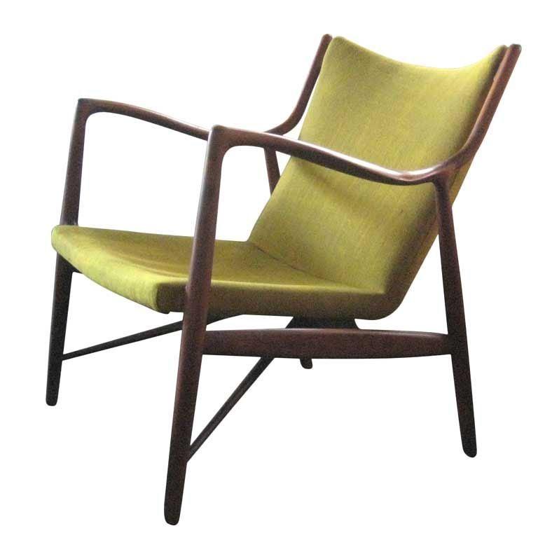 Finn Juhl Nv 45 Teak Arm Chair At 1stdibs