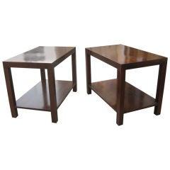 Pair of Robsjohn-Gibbings Walnut Side Tables