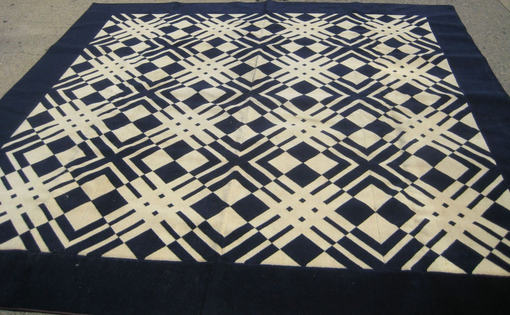 American Early David Hicks Area Rug For Stark Carpet