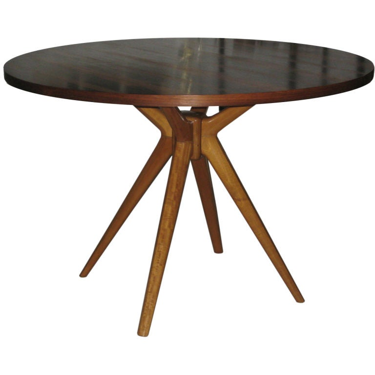 Osvaldo borsani t40 center dining table with rosewood top for Dining at at t center