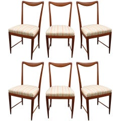 Set of Six Paolo Buffa Dining Chairs