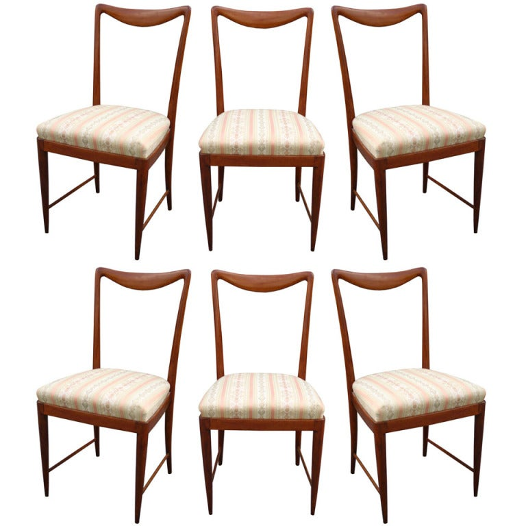 Set of Six Paolo Buffa Dining Chairs 1