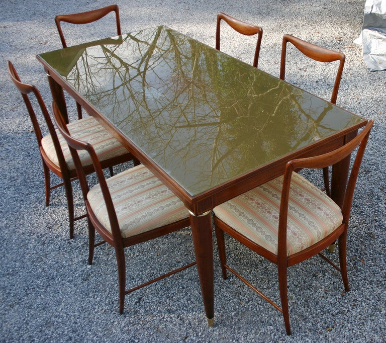 Set of Six Paolo Buffa Dining Chairs 6