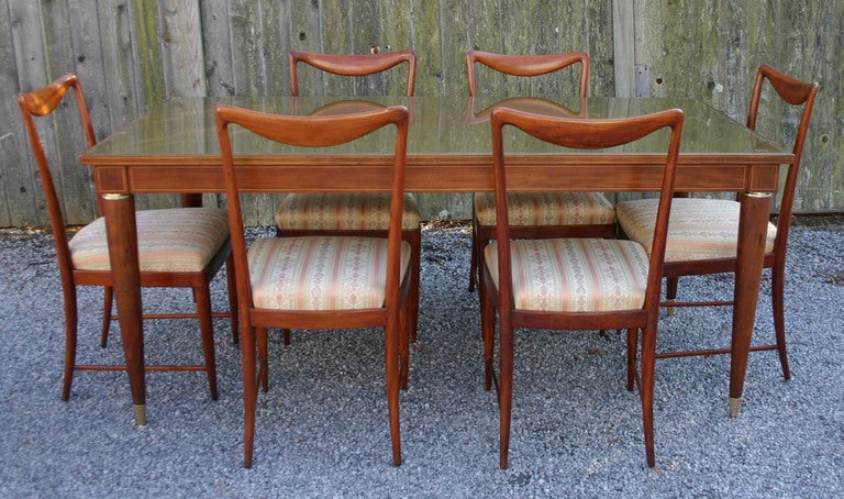 Set of Six Paolo Buffa Dining Chairs 7