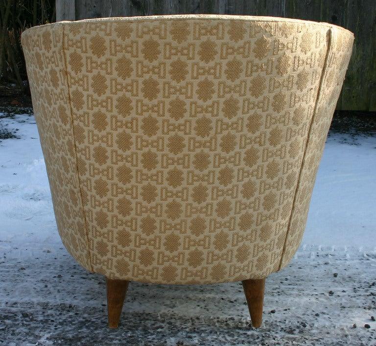 Italian Barrelback Armchair For Sale 1