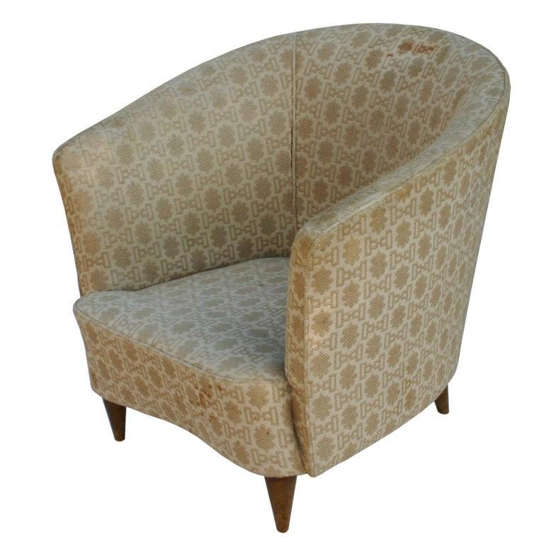 Italian Barrelback Armchair For Sale