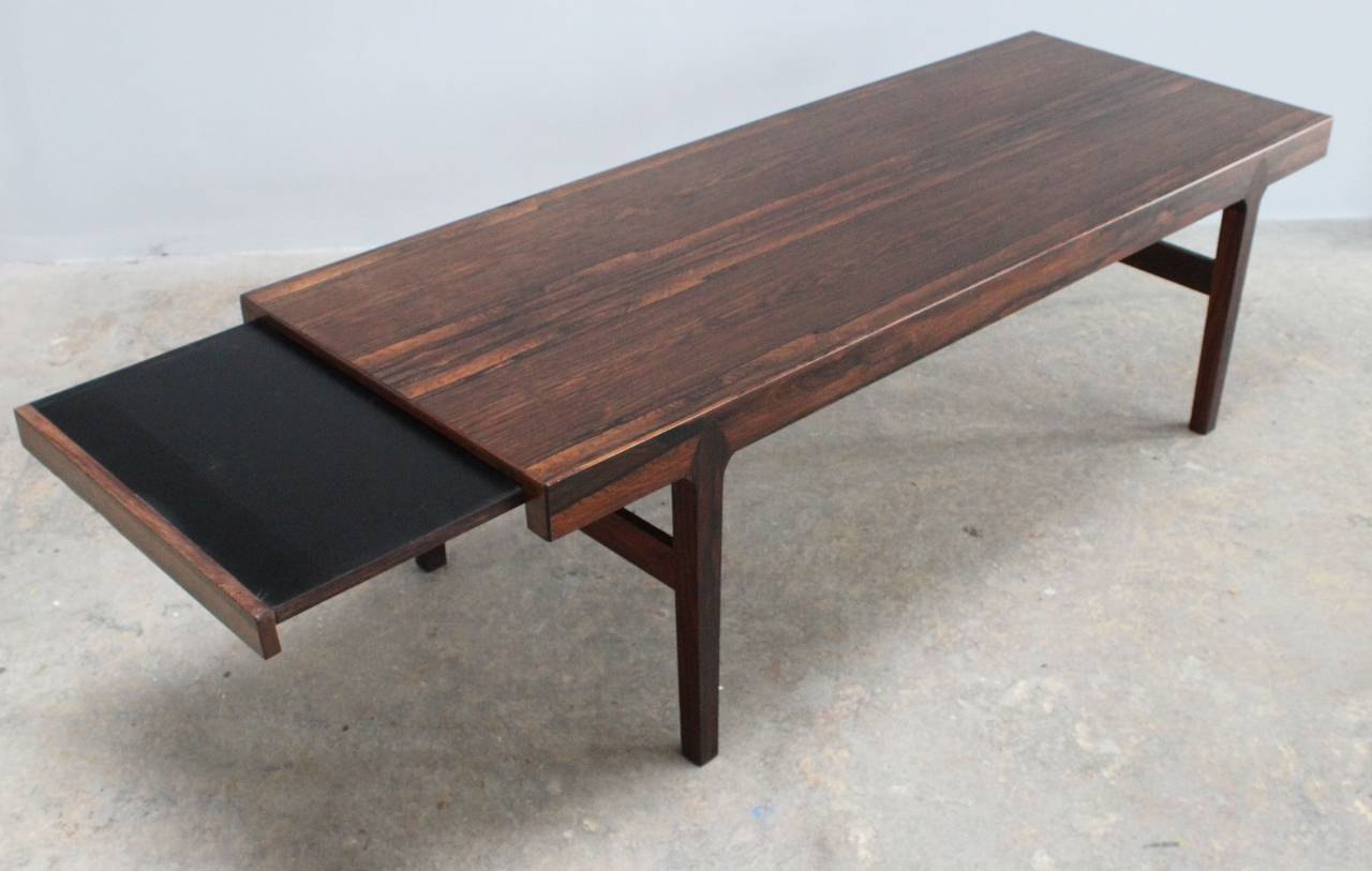 Late 20th Century Danish Rosewood Coffee Table For Sale