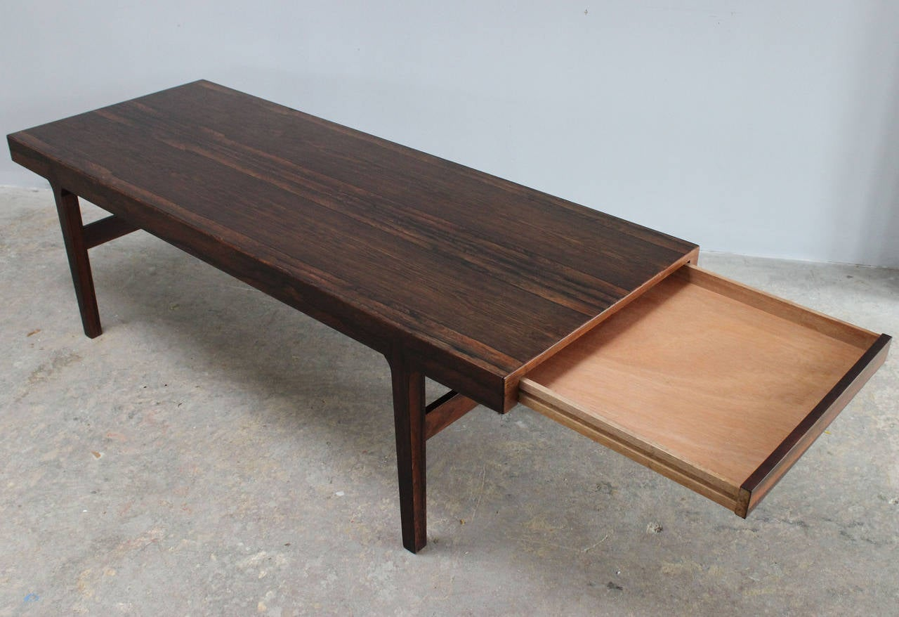 Wood Danish Rosewood Coffee Table For Sale