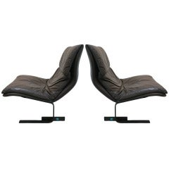 Pair Saporiti Onda Chairs