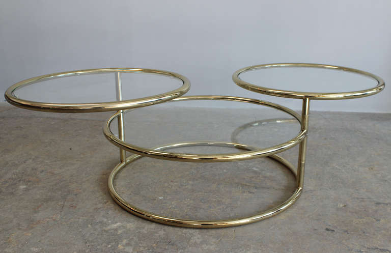 Double Swivel Coffee Table For Sale At 1stdibs