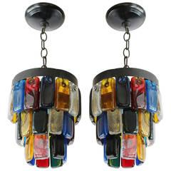 Brutal Style Glass Pendants
