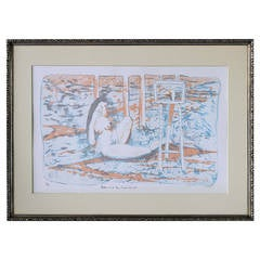 Leda and the Swan II Lithograph