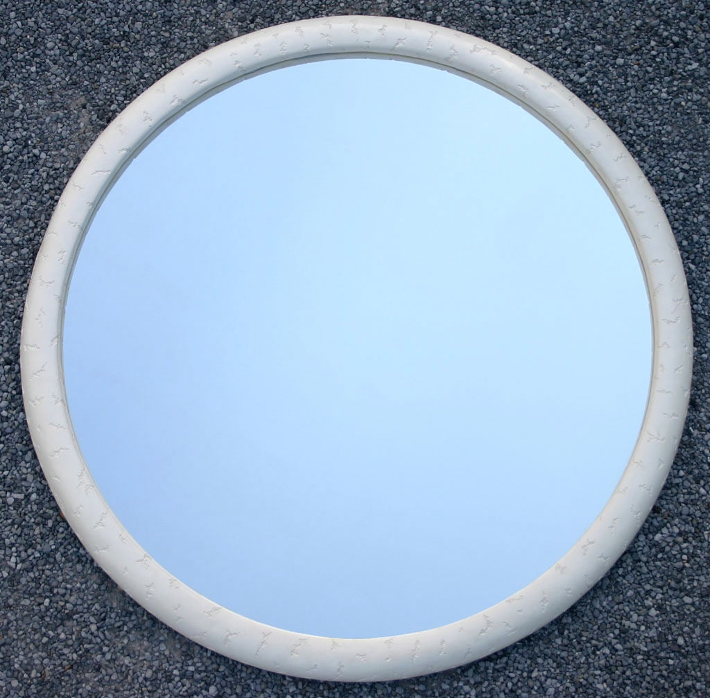 Large round textured mirror image 2 for Big circle mirror