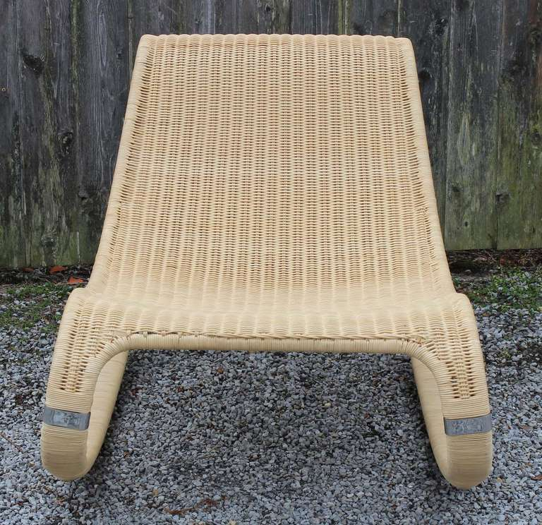 Rattan Rocking Chair At 1stdibs