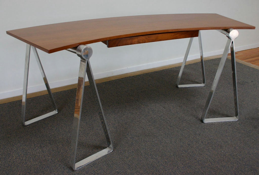 sleek arc desk at 1stdibs