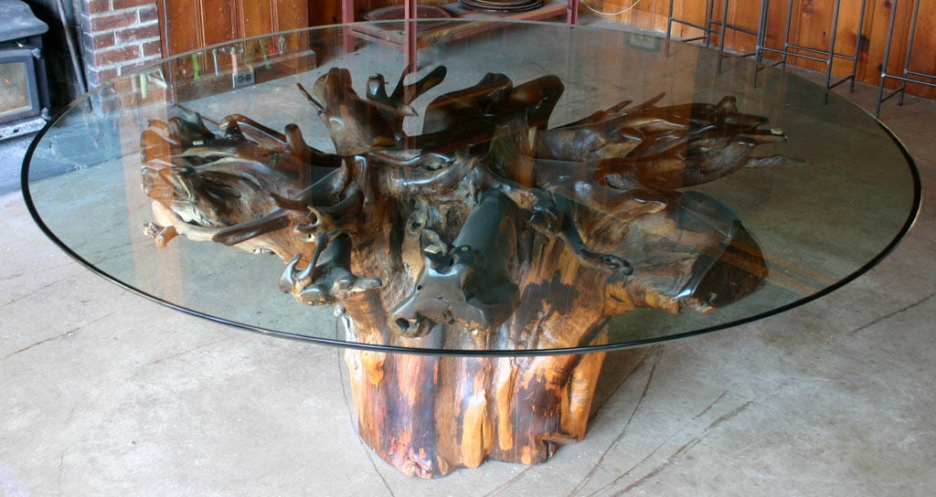 Tree Trunk Dining Table