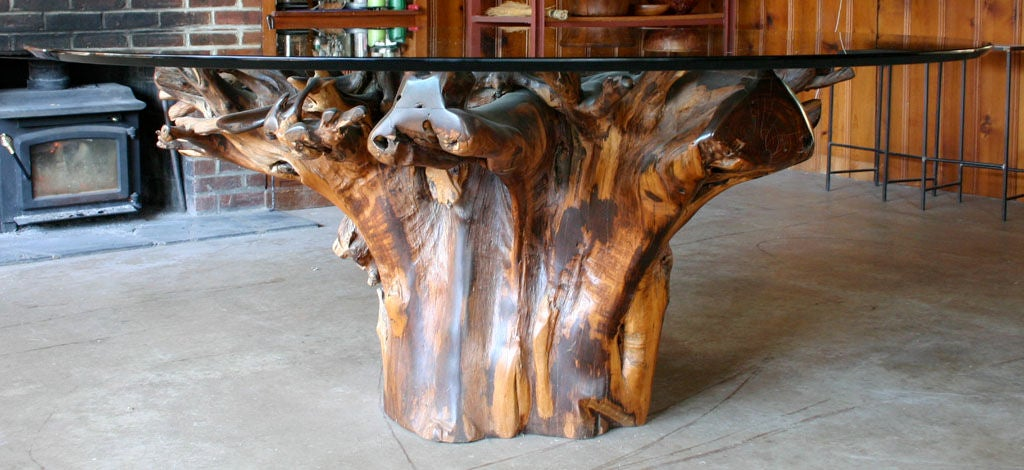 Massive Tree Trunk Dining Table At 1stdibs